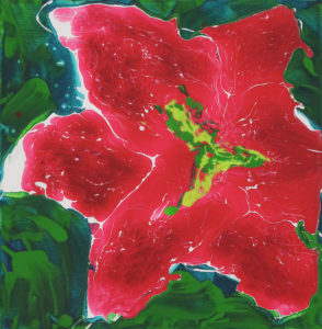 Poppy Bloom Mike Townsend Acrylic on canvas, 12