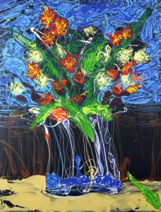 Bouquet Mike Townsend Acrylic on canvas, 40