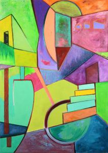 Panic Room Stacy Brock Acrylic on canvas, 57