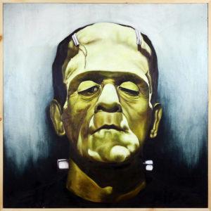 Frank Stephanie Wysluzaly oil on canvas, 36