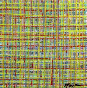 Hunter Zen Karyn Berthel Acrylic on canvas, 18
