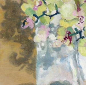 Orchid Study Lara Scott oil on board, 10