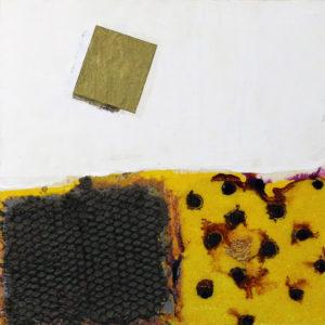 Rectangle Lara Scott Acrylic oil and paper on board, 10