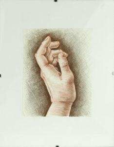 Hand Study Sarah Burns Colored Pencil, 10