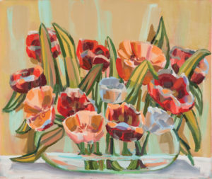 Judith Linhares Red and Orange Tulips 1999 22