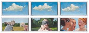 Josh Nierodzinski The Three Graces Enjoy a Breeze 2014 Double Triptych, Six 10