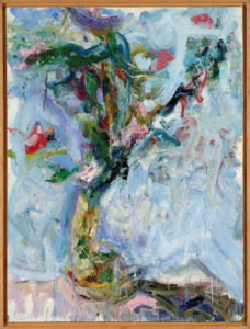 Carl Plansky Blue Flower Painting 2005 50