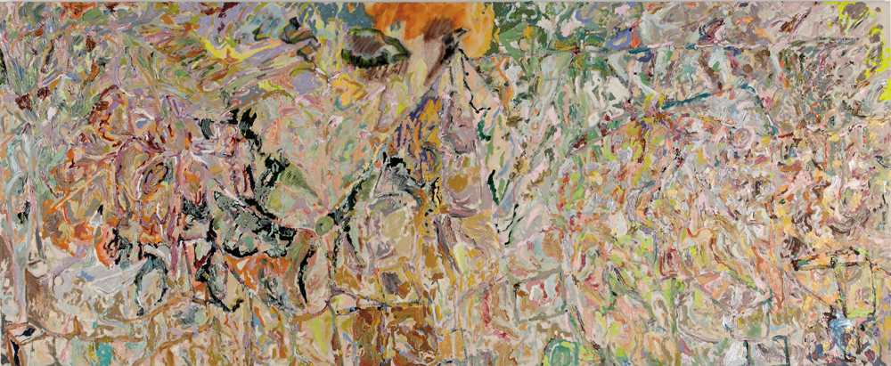 Larry Poons 20000 Miles to Gram Parsons 2003 Acrylic on canvas 66
