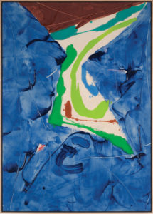 Blue Ladder, 1980, Acrylic on Canvas, 64 1/2