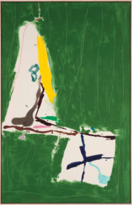 Green Broom, 2012, Acrylic on Canvas, 80.5