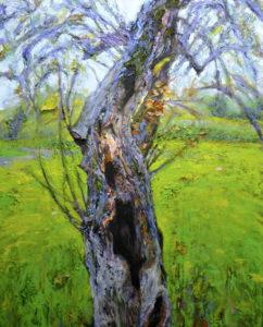 "Scott Bennett Crab Apple  2013 50"" x 45"" x 2"" Acrylic on canvas"