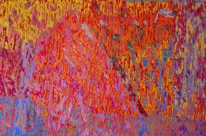 "Ulysses Jackson Day Lily 2008 48"" x 72"" Acrylic on canvas"