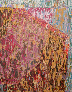 """Ulysses Jackson Leaning Clouds 2008 40"""" x 30"""" Acrylic on canvas,"""