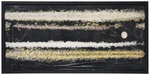 "Michael Townsend Moon Light 2001 14"" x 26"" x 1"" Acrylic on canvas"