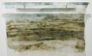 "Lori Wilson Expanse 1 2012 96"" x 20"" x 1"" Acrylic"