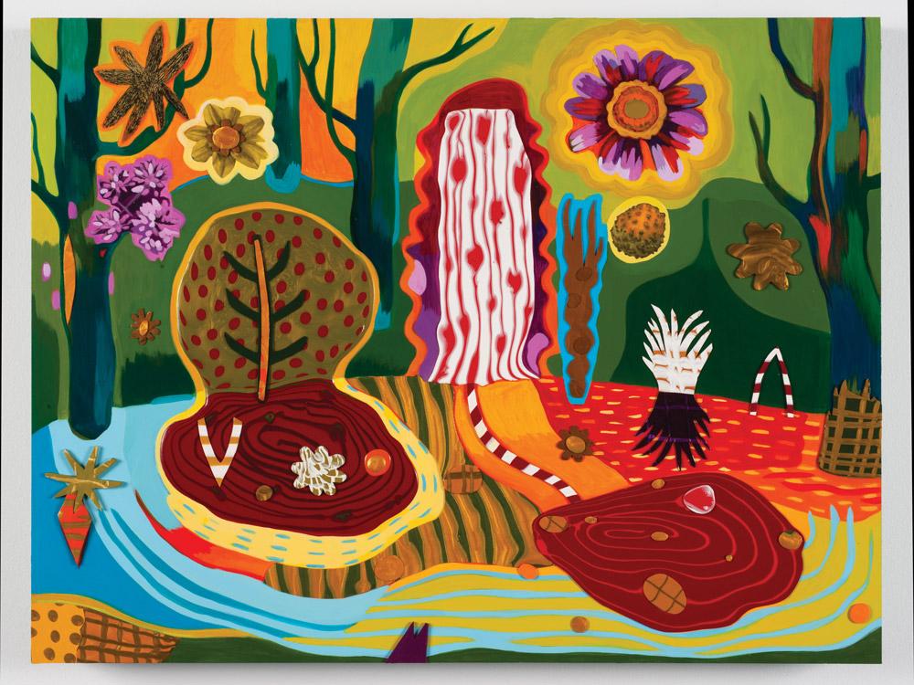 Forest Pool (2018)  Teresa Cox  Acrylic on panel 18