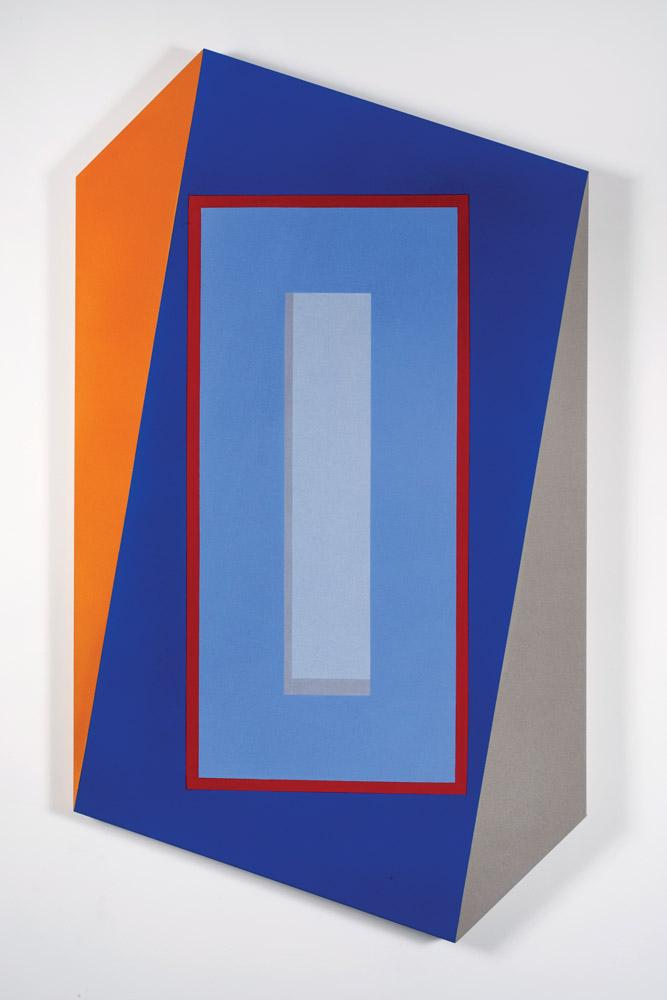 Unbound (2018)  Mokha Laget  Acrylic, pigment, Flashe on shaped canvas 60