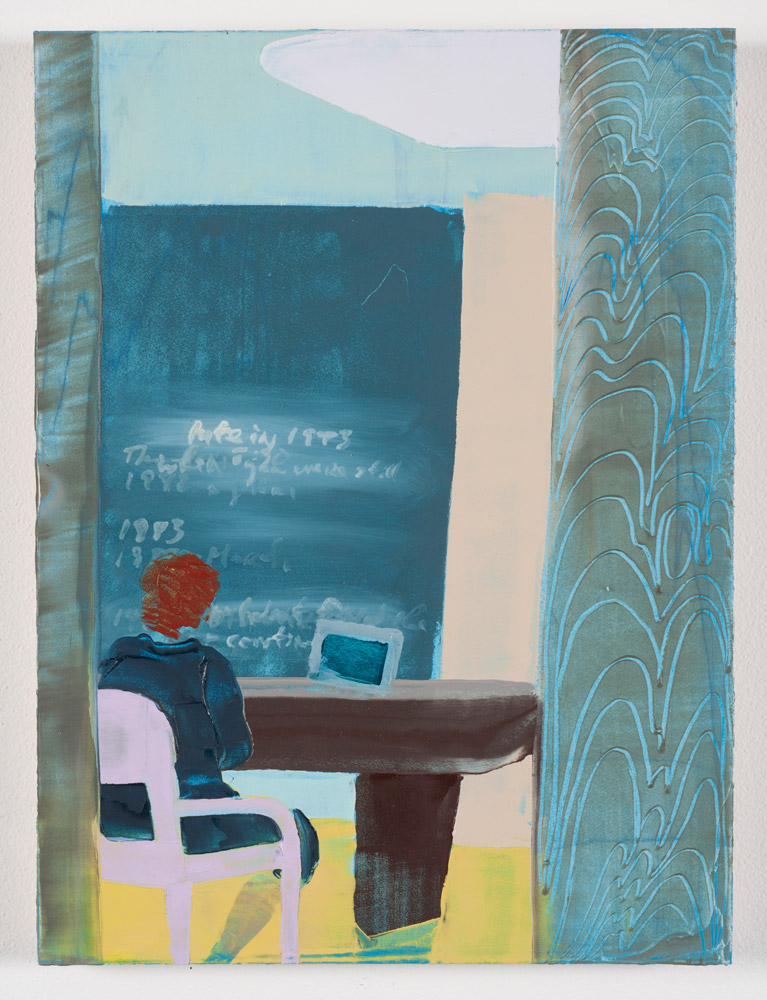 The Outer Office (2018)  Beth Livensperger  Oil on panel 13