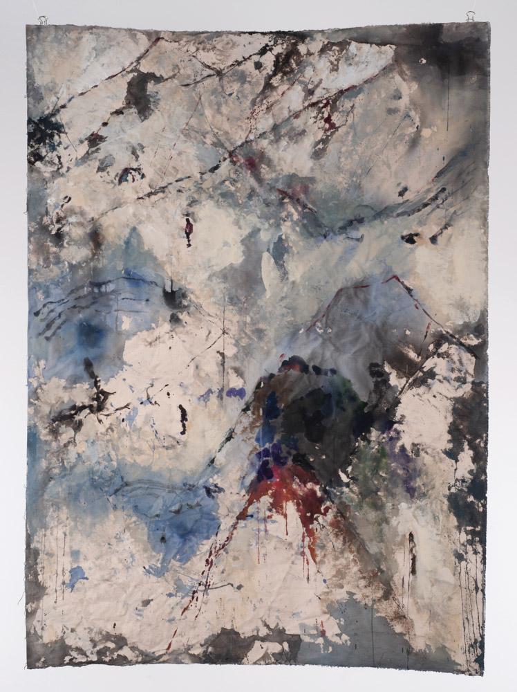 Thin Air (2018)  Orly Maiberg  Acrylic on canvas 50
